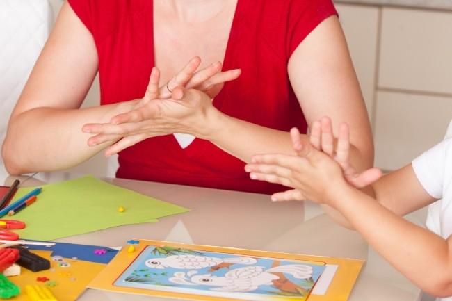 Работа олигофренопедагога с детьми